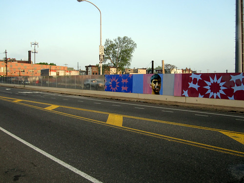 spring garden bridge mural