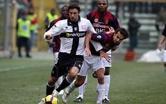 Pisanu con la maglia del Parma
