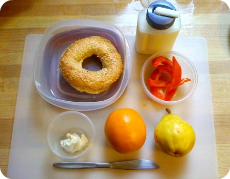 Today's packed lunch