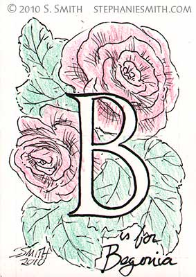 B is for Begonia