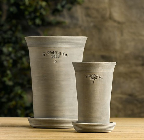 Guy Wolff pots at Restoration Hardware