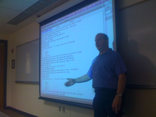 Jim Moore instructs at GatorJUG Git Talk