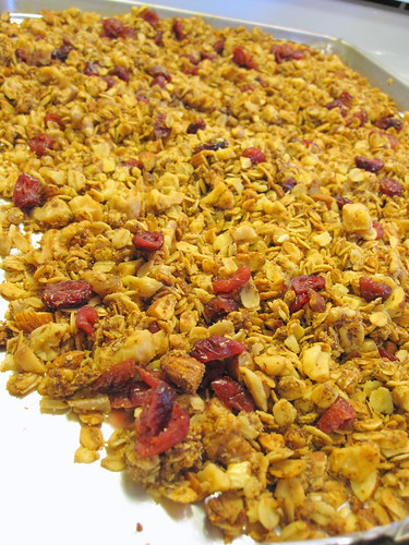 Granola with Walnuts, Almonds, Flax and Cranberries