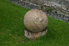 The Menzies Stone at Menzies Castle
