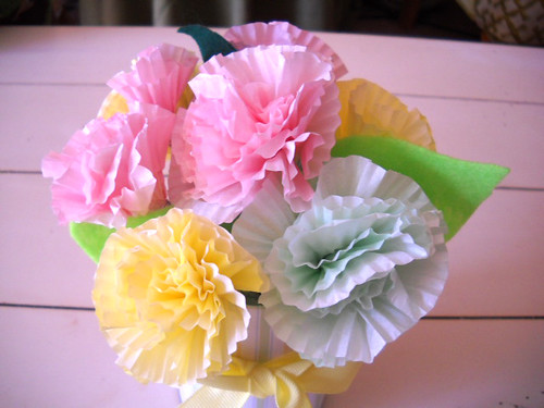 Cupcake Liner Flower Tutorial