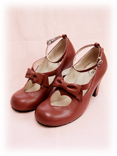 Baby the Stars Shine Bright Heart Ribbon Shoes (red)