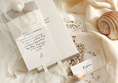 Bali wedding stationary (Special invite) Tags: wedding bali invitation calligraphy stationary placecard