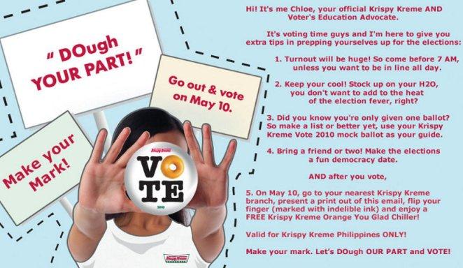 Krispy Kreme Encourages Voters!
