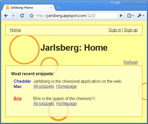 Jarlsberg Vulnerable Web Application