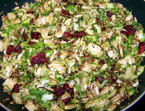Brussels Sprouts with Pecans and Cranberries