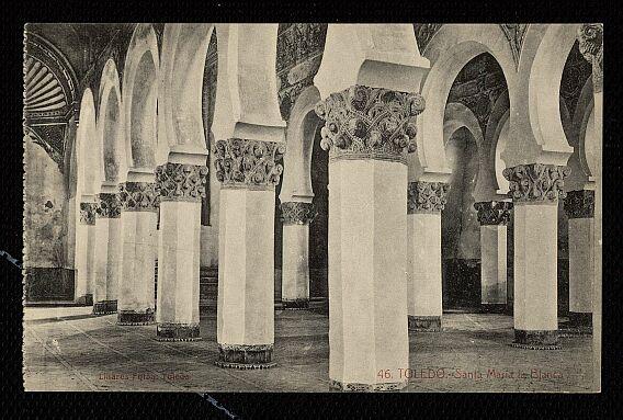 Sinagoga de Santa María la Blanca a inicios del siglo XX. Foto Abelardo Linares