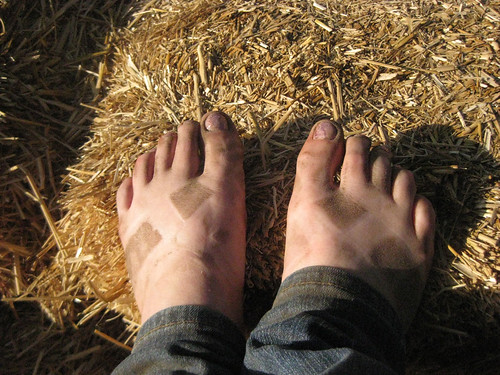 My dusty feet after a day at the Renassaince Fair