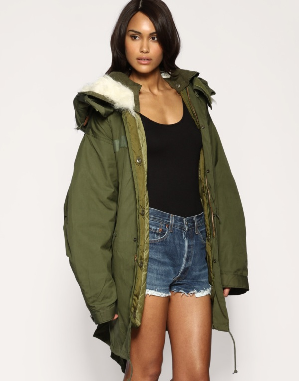 ASOS Reclaimed collection army parka jacket