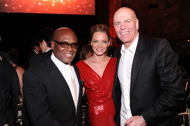 LA Reid, Katharina Harf and Peter Harf at the DKMS Linked Against Leukemia Gala by dkmsamericas