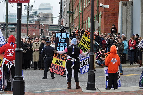 Counter protesters outnumber Westboro Baptist in Richmond, Va.