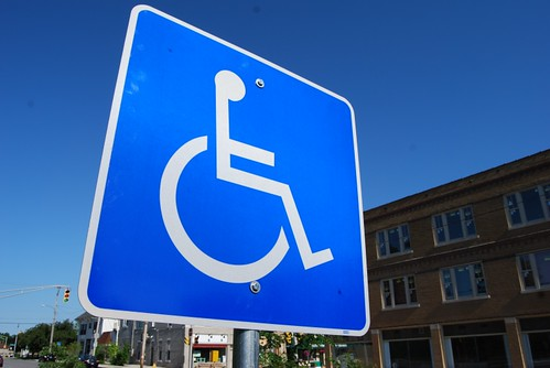 handicap sign by Steve A Johnson, on Flickr