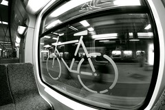 Bike on train (judge75) Tags: berlin train zug fisheye sbahn walimex allee schnhauser samyang