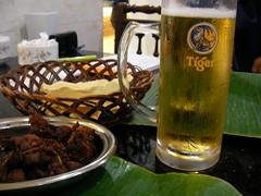 タイガービールとマイソール・マトン