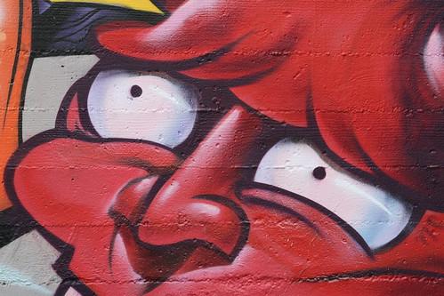 Hana Mask Street Mural