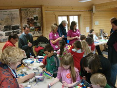 Craft making at Blether Tay-Gither's storytelling day