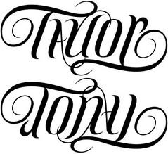 """Taylor"" & ""Tony"" Ambigram"