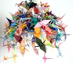 Cranes (Ingthings) Tags: home origami cranes colourfull