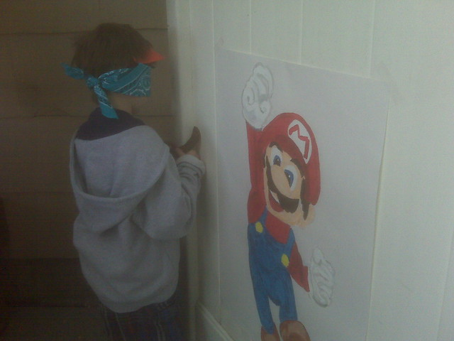 Pin the mustache on Mario