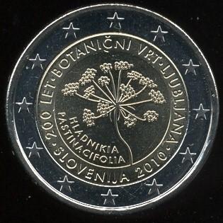2 Euro Slovinsko 2010, botanická záhrada