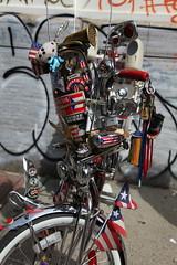 NYC Bicycle Fetish Day (2010) (jamie nyc) Tags: nyc newyorkcity brooklyn williamsburg bklyn gothamist blockparty williamsburgh tallbikes cityreliquary fixies bicyclefetishday blacklabelbikeclub classicbikes vintagebikes fixedgearbikes mutantbikes havermeyerstreet classicriders photobyjimkiernan 2010bikefetishday oldschoolcustomschwinns puertoricanschwinnclub