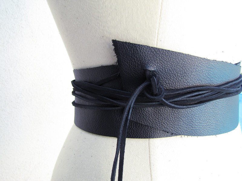 Leather Wrap Belt+Raw Edges+DIY-10