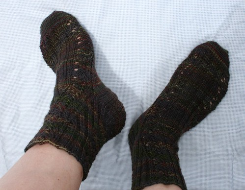 Raven Swirl Socks 2010-#10