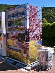 Minami Izu Town's Kawazu Zakura and Nanohana Themed Vending Machine (only1tanuki) Tags: japan japanese vendingmachine  nanohana   izupeninsula  shizuokaprefecture  kawazuzakura  kawazusakura   yunohana minamiizutown 22  kamodistrict