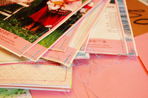 Making a second batch of zines (Photo by iHanna - Hanna Andersson)