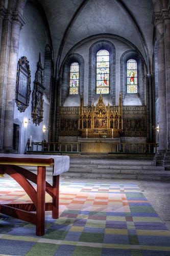 Visby cathedral altar. Altar de la catedral de Visby