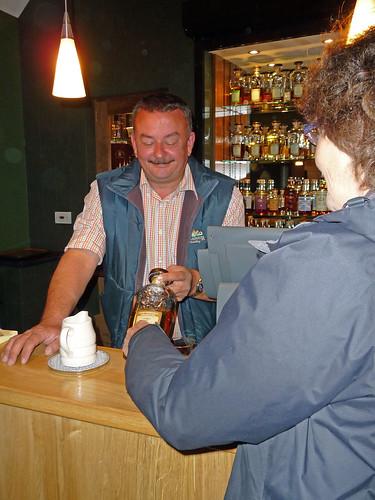 Sampling Whisky at Edradour