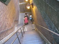 Going Underground (edenpictures) Tags: nyc newyorkcity anna ny newyork subway centralpark manhattan steps maureen eden centralparksouth 59thstreet