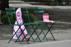 Pink Boots / Pink Coat (LaValle PDX) Tags: pink portland boots pdx portlandoregon jamisonsquare nearportlandstreetcar
