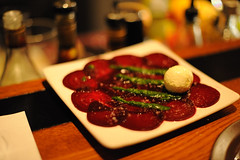 Carpaccio For Vegetarians? (Or Hiltch) Tags: food israel yum vegetarian beet carpaccio vegetariano tapeo comidavegetariana veggiefood