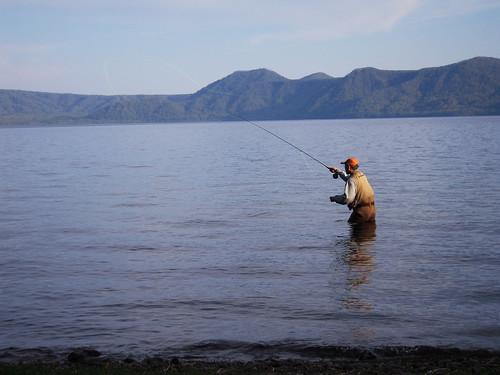 Flyfishing at Shikotsuko