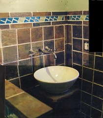 stone tile bath with keypattern border (914-466-7727 Anthony Lee) Tags: california arizona sculpture newyork art kitchen grave sign rock hammer stone wall tile landscape fireplace bath sandstone memorial mine natural african mosaic mason headstone cemetary tomb fine steps newhampshire knot carving boulder relief patio kingston trinity gravestone granite limestone zena celtic carver marble woodstock chisel gunks stonewalls labyrinth quarry cutter address compass bluestone ulster engrave pavers knotwork hudsonvalley saugerties conglomerate stonecutter stonemason veneer stonecarver tred shawangunk hardscape glasco sawkill shongum stonepatios stonetilebouldercarving