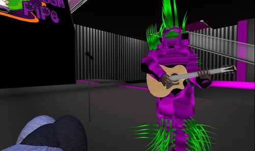 maximillion kleene in second life in cyber avatar costume
