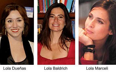 Actrices llamadas Lola, Lola Dueñas, Lola Baldrich, Lola Marceli