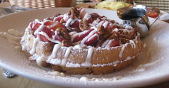Cheesecake Factory - Strawberry Pecan Belgian Waffles