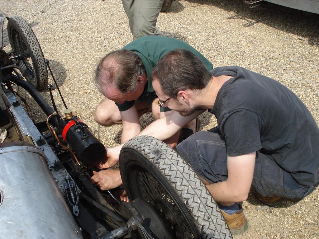 5 June 2010 Brooklands Sprint Spider repairs