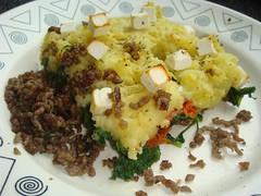 Ovenschotel met feta en spinazie