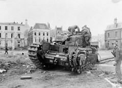 """German troops examining """"Churchill"""" tank of the Calgary Regiment abandoned during the raid on Dieppe / Des soldats allemands examinant un char d'assaut  Churchill  du Rgiment de Calgary abandonn durant le raid sur Dieppe (BiblioArchives / LibraryArchives) Tags: canada france wwii lac canadian worldwarii soldiers 1942 dieppe canadians canadiens canadien bac secondworldwar canadienne soldats libraryandarchivescanada canadiennes deuximeguerremondiale churchilltank germantroops bibliothqueetarchivescanada soldatsallemends chardassautchurchill calgaryregiment rgimentdecalgary"""
