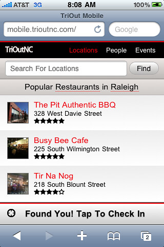 New TriOut HTML5 Mobile Webapp - mobile.trioutnc.com