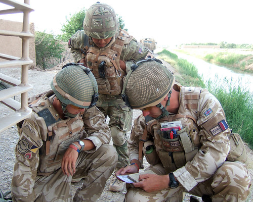 British Soldiers Provide Security