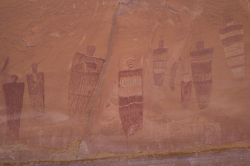 Barrier Canyon Style pictographs in Horseshoe Canyon, Utah