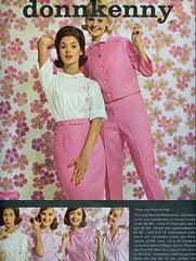 Pink posies (sugarpie honeybunch) Tags: pink fashion vintage magazine advertising 60s pants ad blouse 1960s seventeen donnkenny